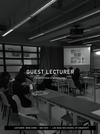 Guest Lecture in Advertising
