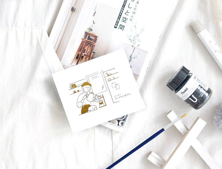 B.S. Coffee TGT Mini Post Card