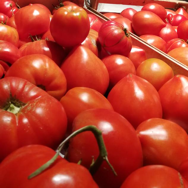 tomates à la table d'hôtes O petit Bonhe