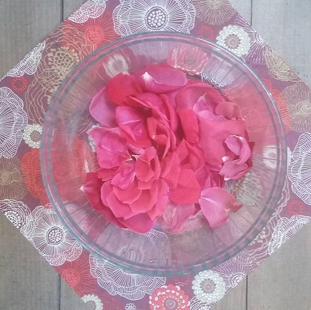 Fabrication d'eau de rose O petit BOnheur