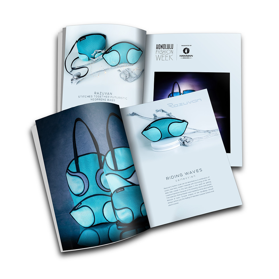 Riding Waves collection by Razuvan™ - product photography for the annual Honolulu Fashion Week guide