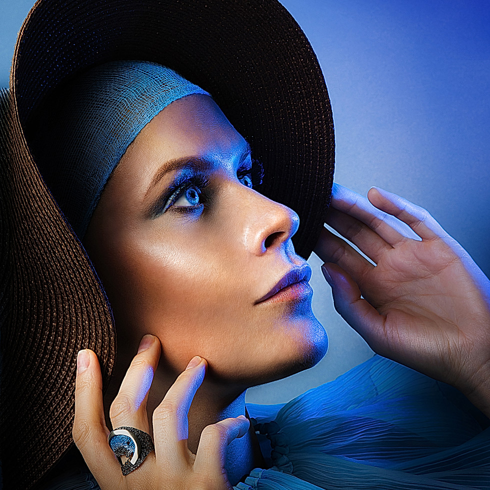 """""""Into the Blue"""" for MiRed Studio - - - - - - - - - - - - - -  International Photography Awards 2018 -Honorable Mention Professional section Advertising - Fashion category"""