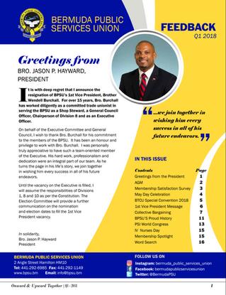 BPSU Feedback Newsletter 2018 Q1