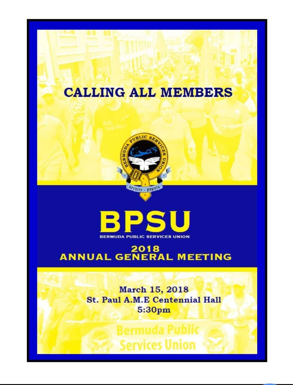 This is the opportunity for all members to come out and hear what their Union has been doing for the past year.  It also allows members to help shape the path moving forward.