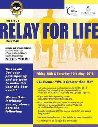 BPSU Participates in Relay for Life