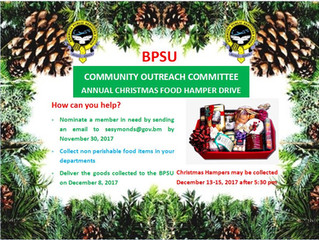 BPSU Annual Christmas Hamper Food  Drive
