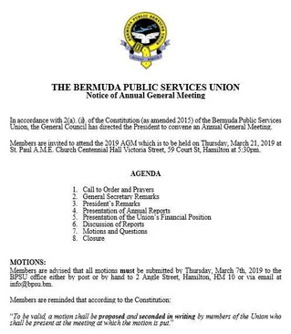 BPSU 2019 Annual General Meeting Notice