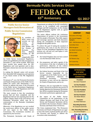 BPSU Feedback Newsletter Q1 2017