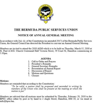 BPSU 2018 ANNUAL GENERAL MEETING