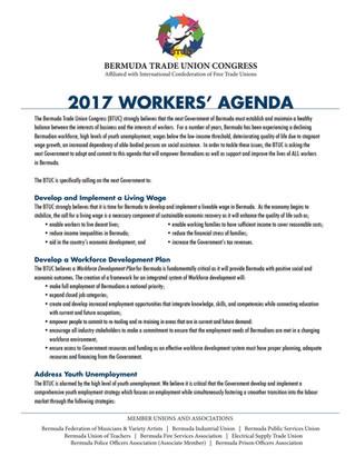 BTUC 2017 Workers' Agenda