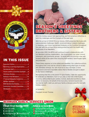 Q4 - 2020: Happy Holidays!  The long awaited BPSU Feedback Newsletter is BACK!
