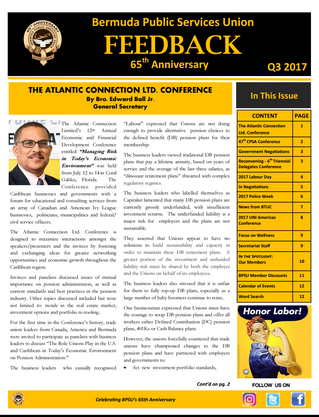 BPSU Feedback Newsletter Q3 2017