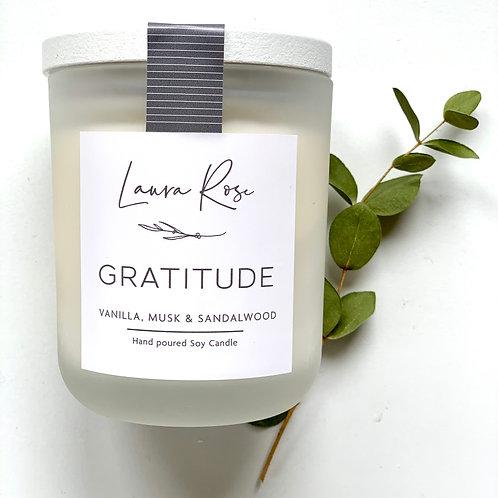 Gratitude with Whitewash finish
