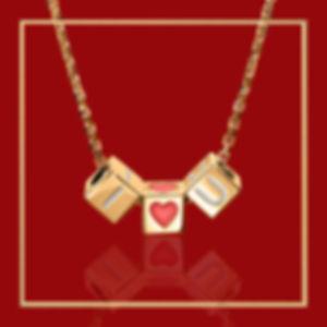 I-HEART-U-CN_YG_in gold-frame-dark-red-1