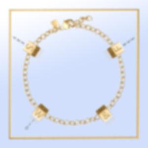 WW-SW&F-YG_OneCube Chain-Bracelet_in gol