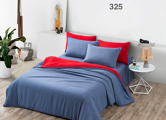 Fitted Bed Sheet Set 325 (Solid Colour - Blue)