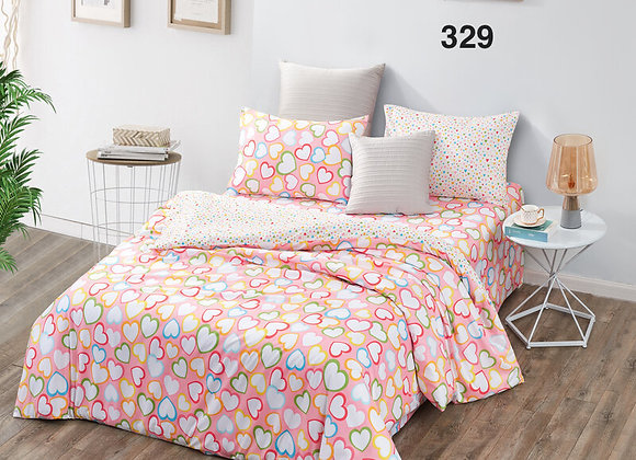Quilt Cover Set (w/Fitted Bed Sheet) 329