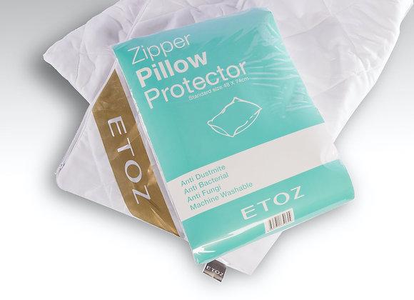 Etoz Zipper Pillow Protector- Zipper Bolster Protector- Waterproof Pillow Pad