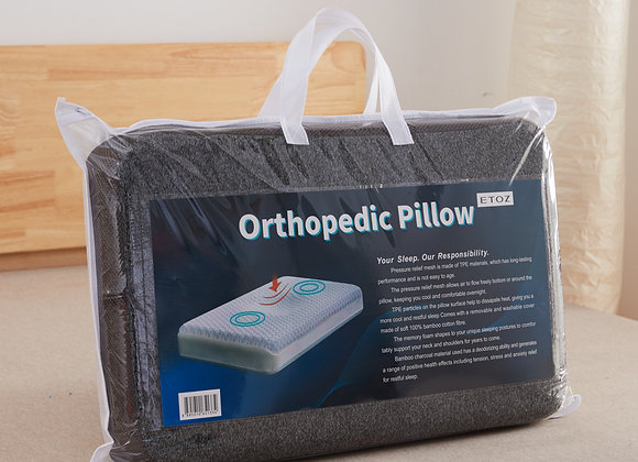 ETOZ Orthopedic Pillow- 12 months limited warranty- Memory Foam Pillow