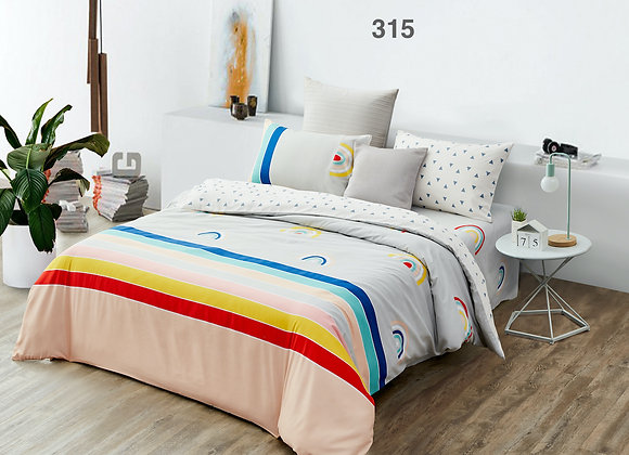 Quilt Cover Set (w/Fitted Bed Sheet) 315