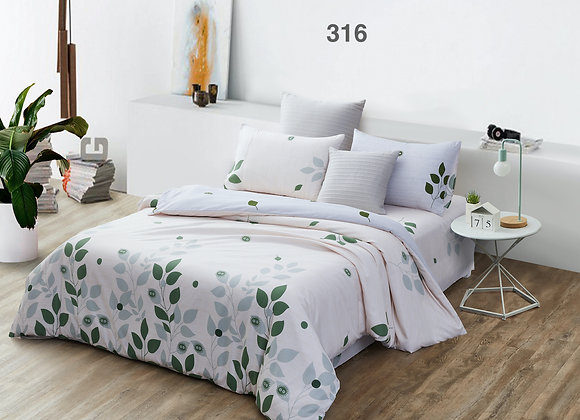 Quilt Cover Set (w/Fitted Bed Sheet) 316