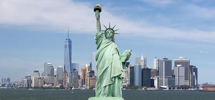 Statue of Liberty. New York, panorama of
