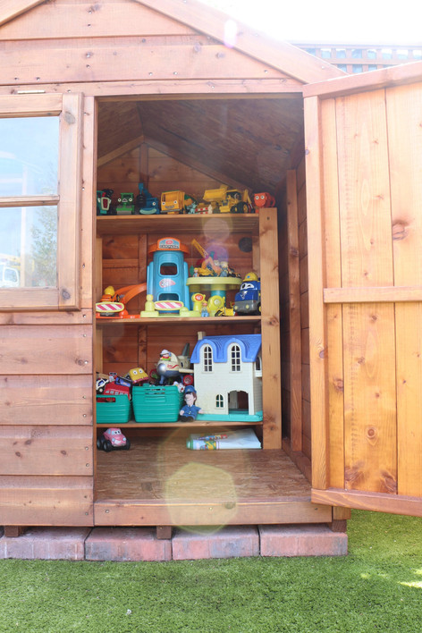 Inside the playhouses