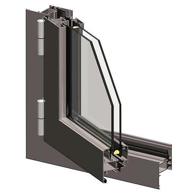 Infissi-Alluminio-Battenti-Gold-450-TT-1
