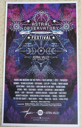 """11"""" x 18"""" Poster - 2016 Astral Observatory"""
