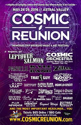 "11"" x 17"" Poster - 2016 Cosmic Reunion"