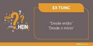"""Dicionário jurídico: """"ex tunc"""""""