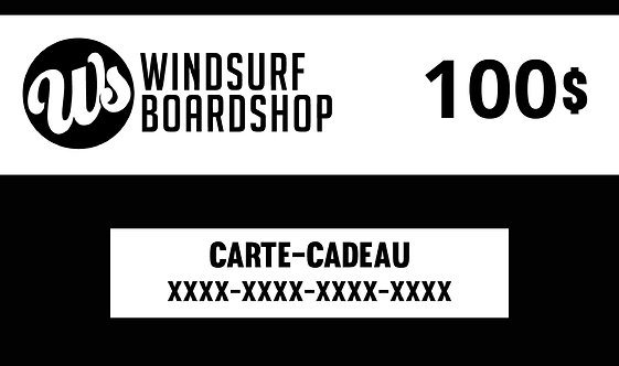 Carte-cadeau numérique - 100$ - Windsurf Boardshop