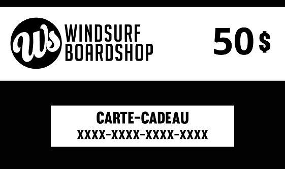Carte-cadeau numérique - 50$ - Windsurf Boardshop