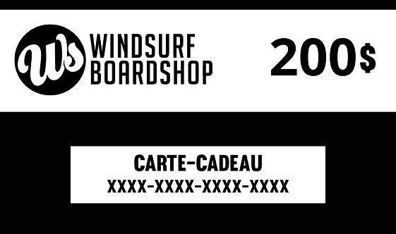 Carte-cadeau numérique - 200$ - Windsurf Boa