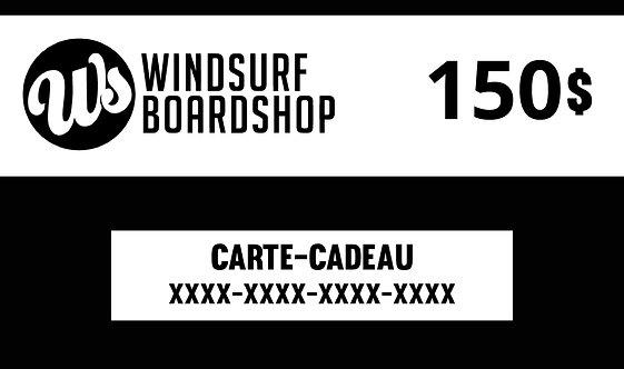Carte-cadeau numérique - 150$ - Windsurf Boardshop