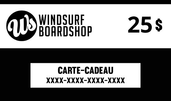 Carte-cadeau numérique - 25$ - Windsurf Boardshop