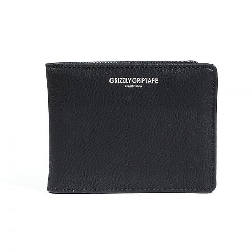 Pebbled Leather Bi-Fold Wallet - Grizzly