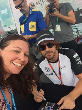 With Fernando Alonso