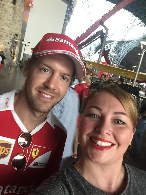 Bumped into Seb Vettel