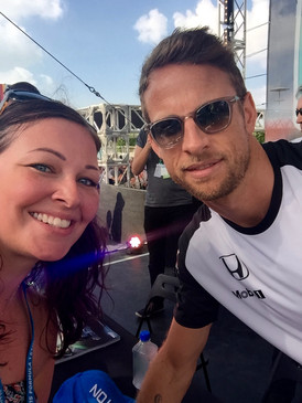 With Jenson Button