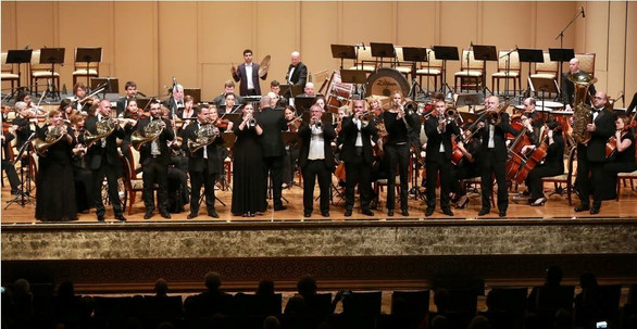 Playing with the NSO Symphony Orchestra in the UAE
