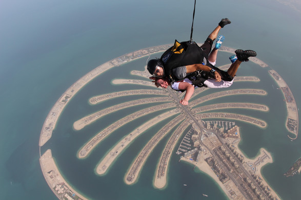 Skydive over the Palm in Dubai