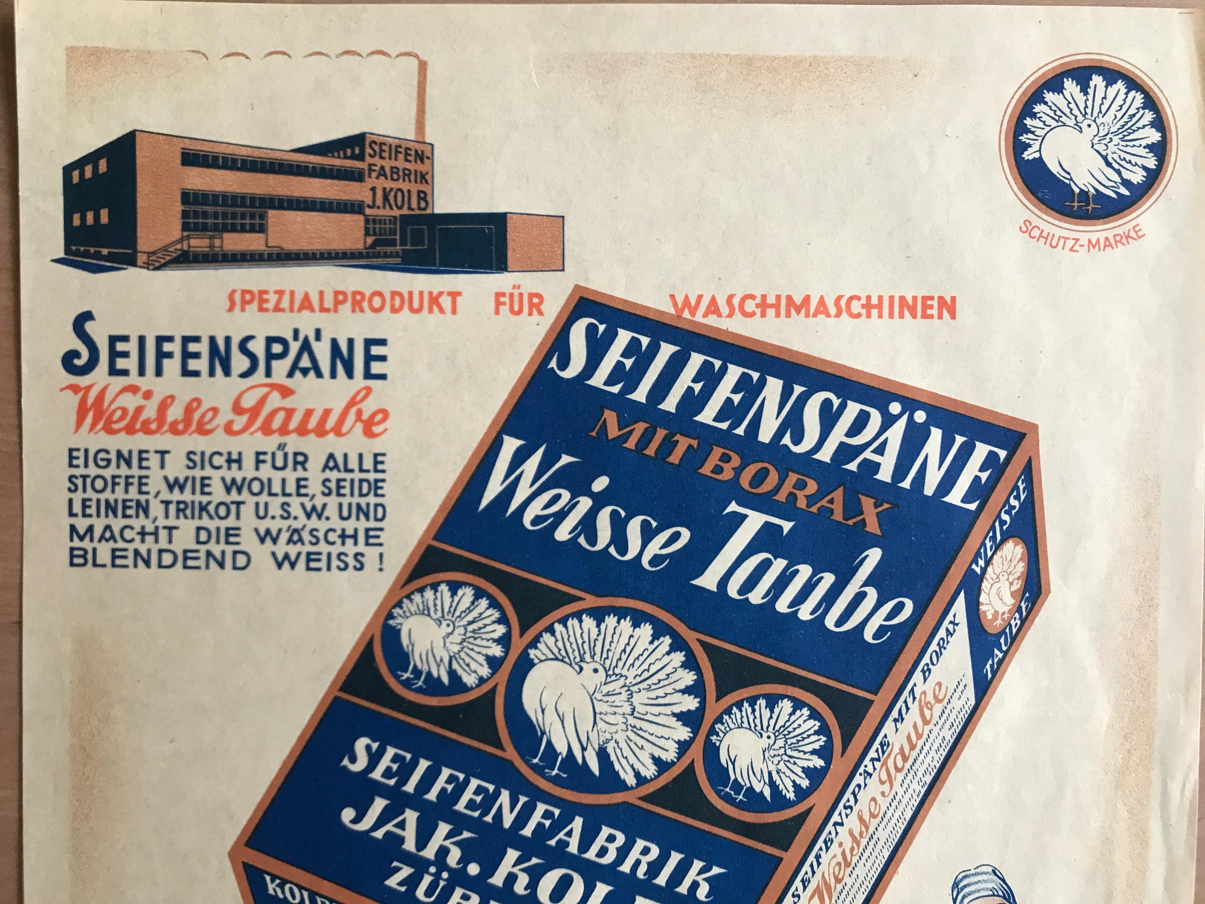 Kolb & Co. Zürich Plakat Weisse Taub