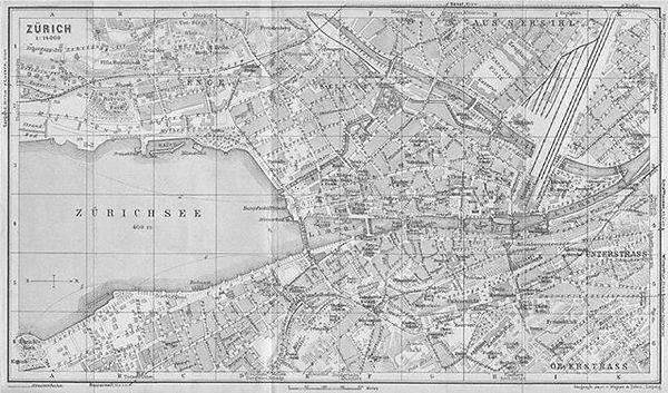 Map of Zürich the origin of the Kolb & Co. soap company