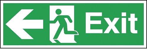 150x450mm Exit Running Man Arrow Left - Self Adhesive