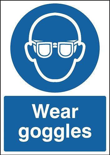 210x148mm Wear Goggles - Rigid