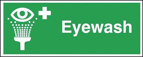 100x250mm Eyewash - Self Adhesive
