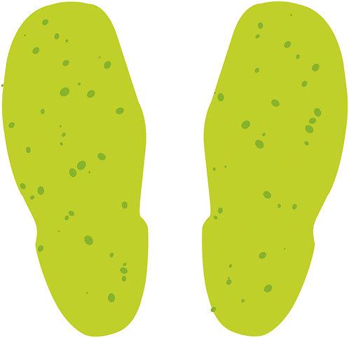 10 sheets of Photoluminescent Footprints