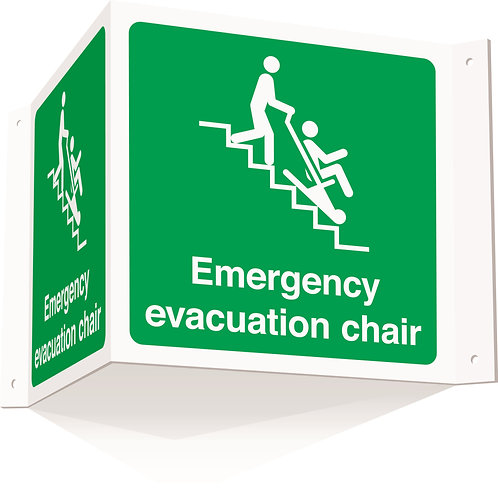 200x400mm Emergency evacuation chair projecting 3D sign