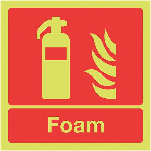 100x100mm Foam Extinguisher - Nite Glo Self Adhesive